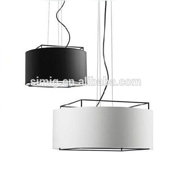 Photo of decorative E27*3-40w fabric material modern led pendant light Metalarte lewit