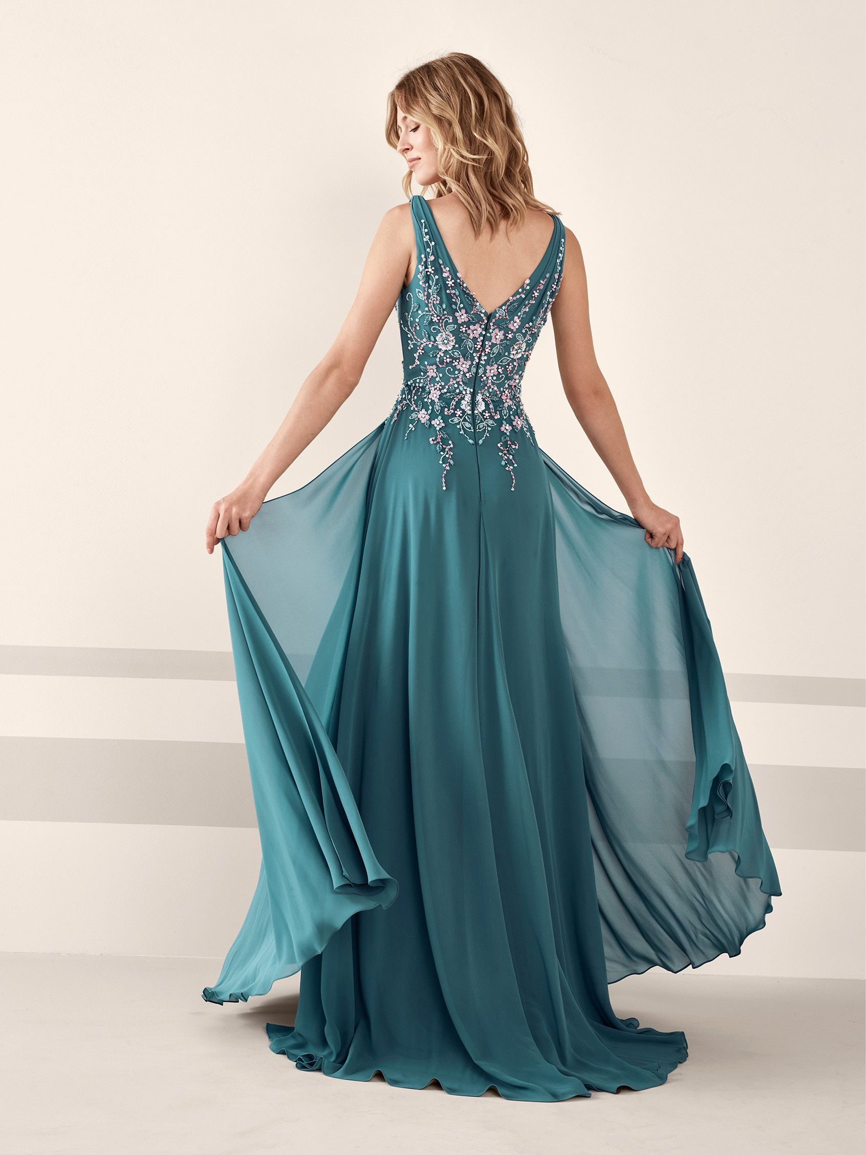 Splendid cocktail dress in chiffon with rhinestones jessica