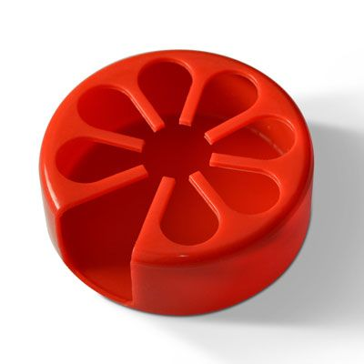 Tenura Silicone Anti Microbial Moulded Cup Holder Red