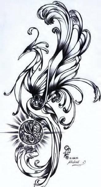 phoenix tattoo ph nix phoenix tattoo motive. Black Bedroom Furniture Sets. Home Design Ideas