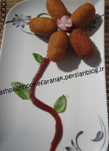 سوسیس سیب زمینی آشپزخونه فرانک Food Pudding Desserts