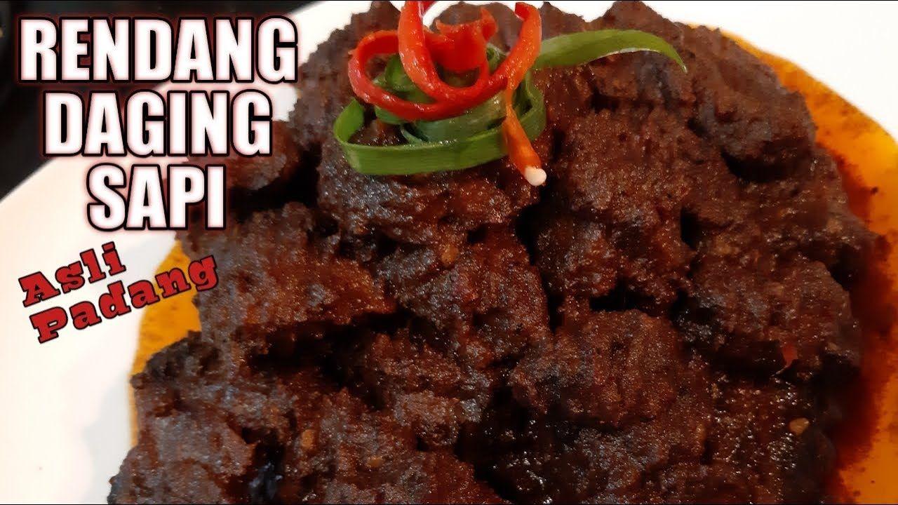 Resep Rendang Daging Sapi Asli Padang Tidak Alot Enak Tahan Lama Beef Rendang Youtube Resep Daging Sapi Makanan