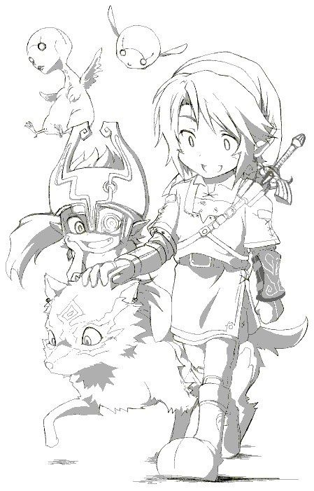 Link Midona Coloriage Zelda Dessin Zelda Coloriage Pokemon