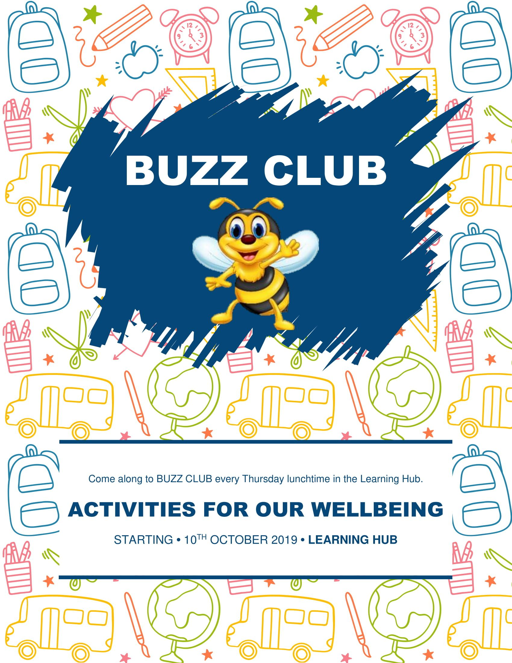 Thursday Buzz Club Wellbeing activities, Wellbeing