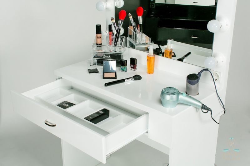 Make Up Tafel : Make up tafel hollywood backstage vanity by luxury palace wit