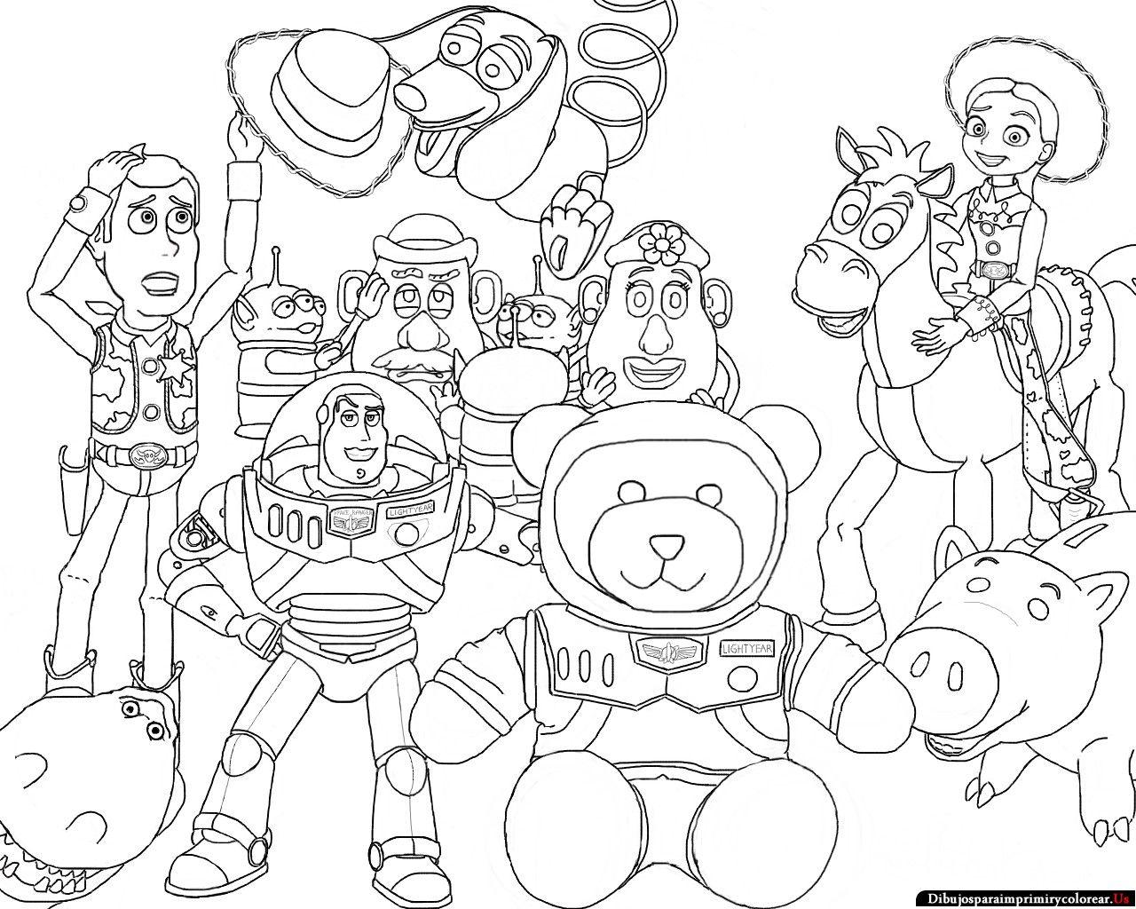 Toy Story 3 Dibujos Para Pintar - Dibujos Para Pintar