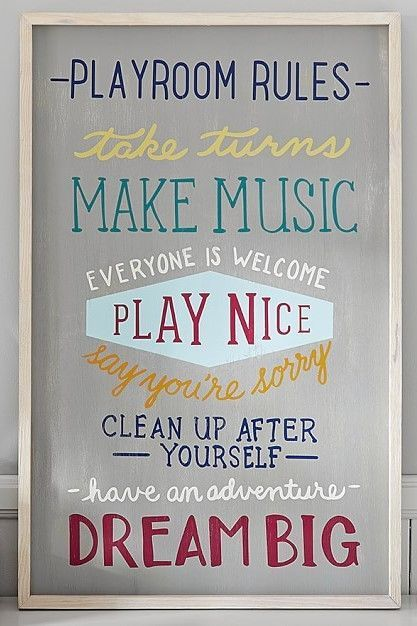 Playroom Rules Art The Rules Of Play Are Simple And Sweet