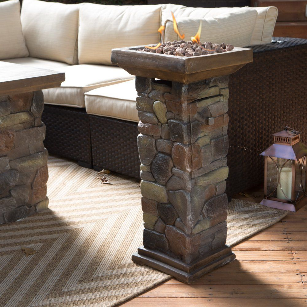 Red Ember Sheridan Mini Propane Fire Column - Fire Pits at Hayneedle