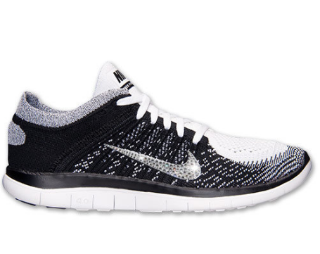 Glitter Feet Outlet Shoes Outlet Shoes 2014 NIKE Free Flyknit 4.0 Running  Outlet Shoes w Swarovski Crystal Detail - WhiteBlackVolt e420596ec