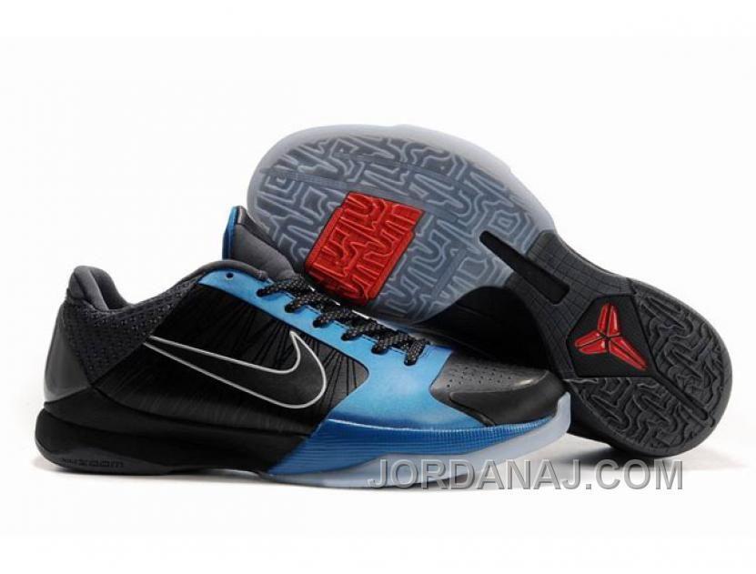 e4aef2c9c460 Ken Griffey Shoes Nike Zoom Kobe 5 Dark Knight Black Dark Grey Neptune Blue   Nike Zoom Kobe 5 - Kobe Bryant is evidently a fan of the Batman Dark  Knight ...