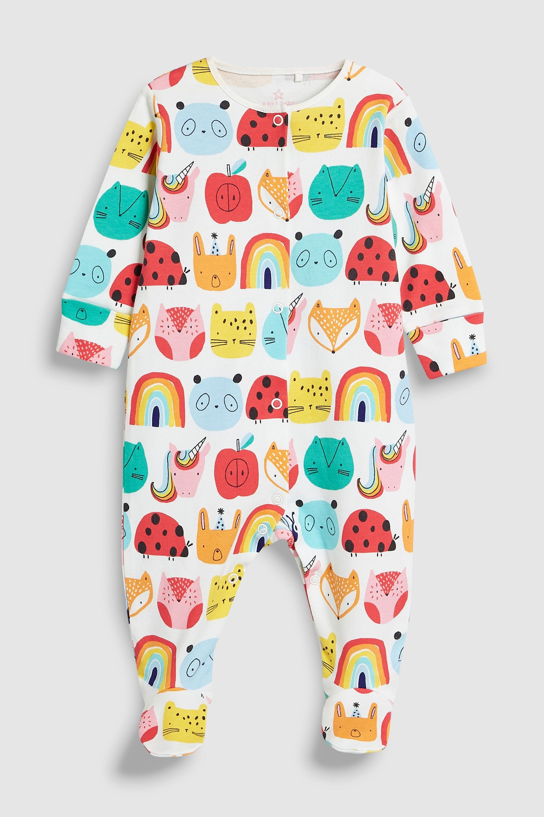 Buy Red/Pink Ladybird Character Sleepsuits Three Pack (8mths-8yrs