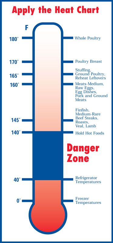 FDA Internal Meat Temperature Chart- need to print this out and have