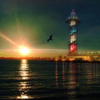 Lake Erie sunset, Erie Public Dock   Follow the Light ...