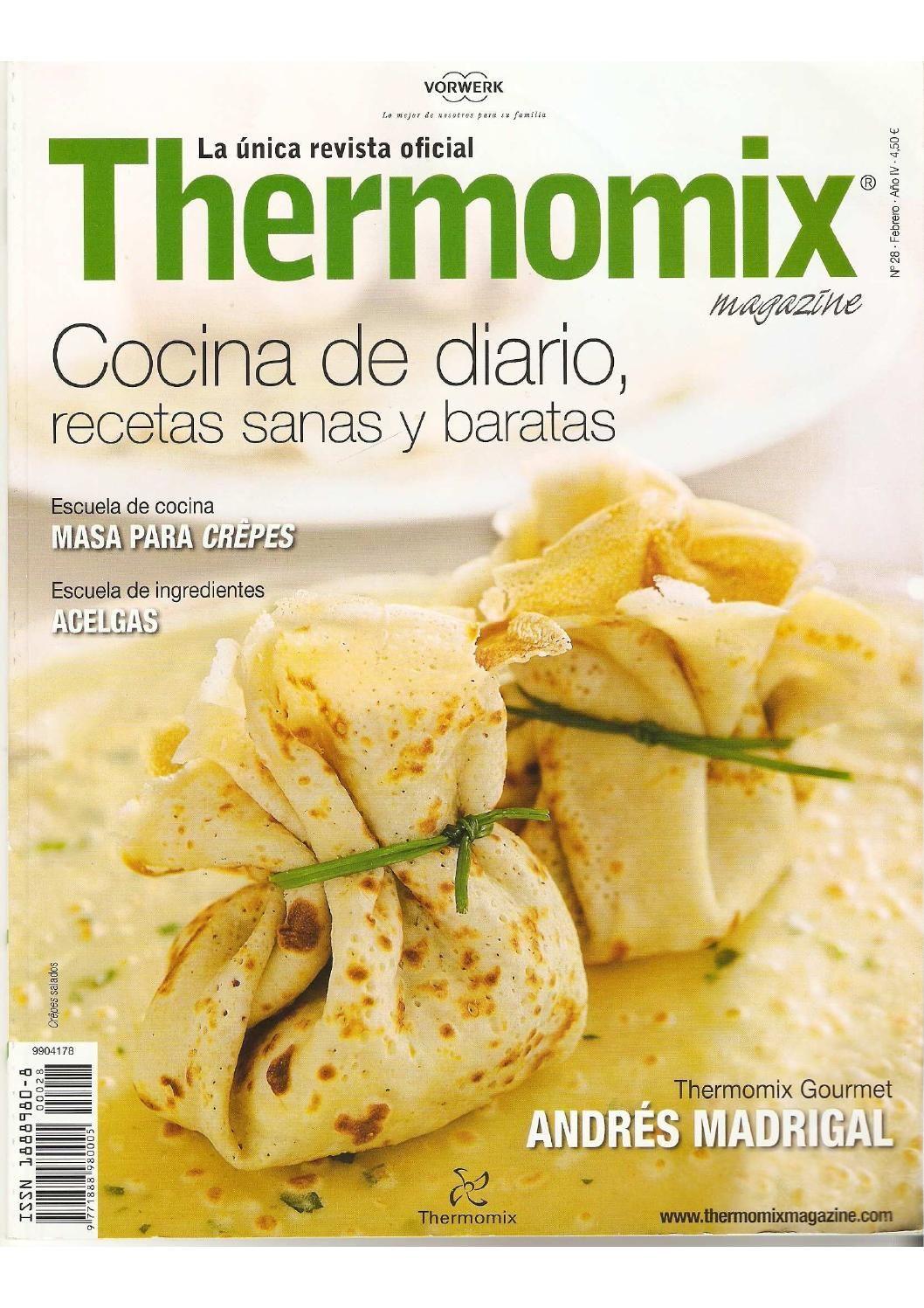 Revista Thermomix Nº28 Cocina De Diario Recetas Sanas Y Baratas Recetas De Cocina Sana Comida Comidas Diarias