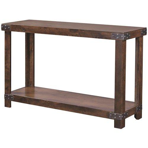 Industrial Sofa Table With Shelfaspenhome  Sofa Tables Extraordinary Aspen Home Dining Room Furniture Design Ideas