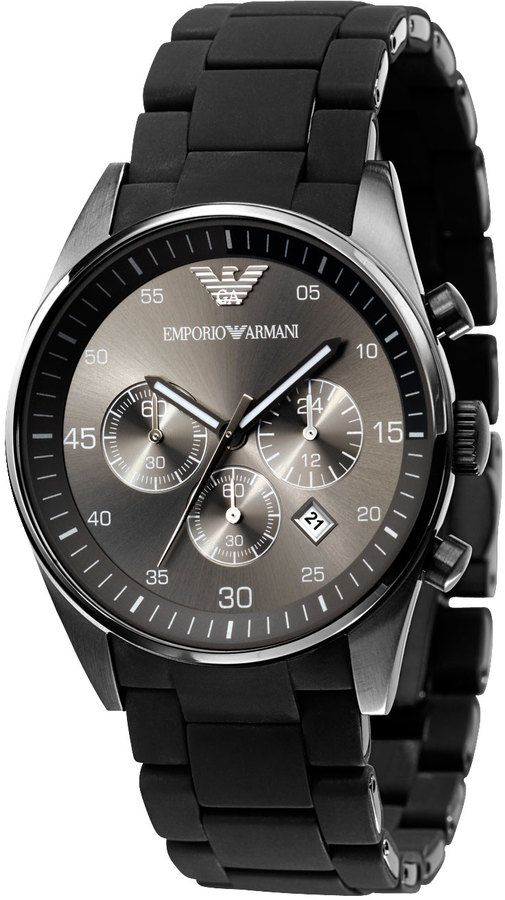 Emporio Armani Chronograph Sport Watch for men, Gunmetal at Neiman ...