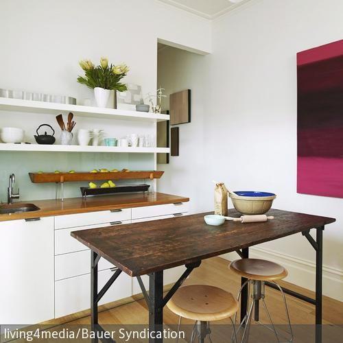 Schmaler Küchentisch Retrò - küchentisch mit barhockern