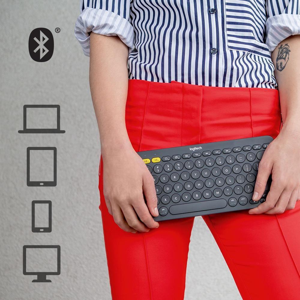 Amazon com: Logitech K380 Multi-Device Bluetooth Keyboard
