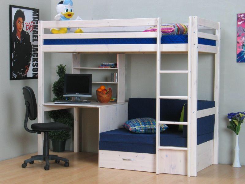 Thuka højseng 90x200 blå | Møbler | Møbler, Højsenge og Børneværelse