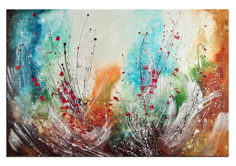 insirationen in acryl kreative bilder selber malen diy zenideen wandbilder abstrakt modern schwarz weiß abstrakte kunst