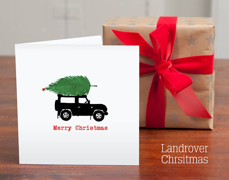 Personalised Silhouette Christmas Cards Silhouette Christmas Christmas Cards Land Rover