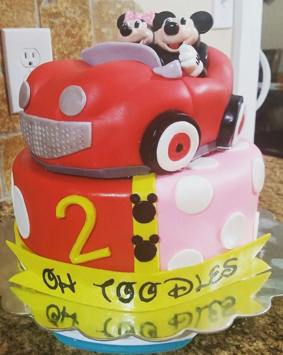 Mickey and minnie car cake car cake cake minnie