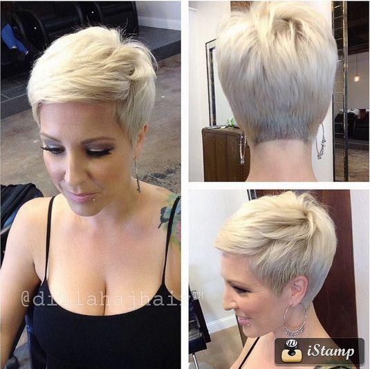 Charmante Kurzhaarfrisuren für Frauen mit blonden Haaren ...