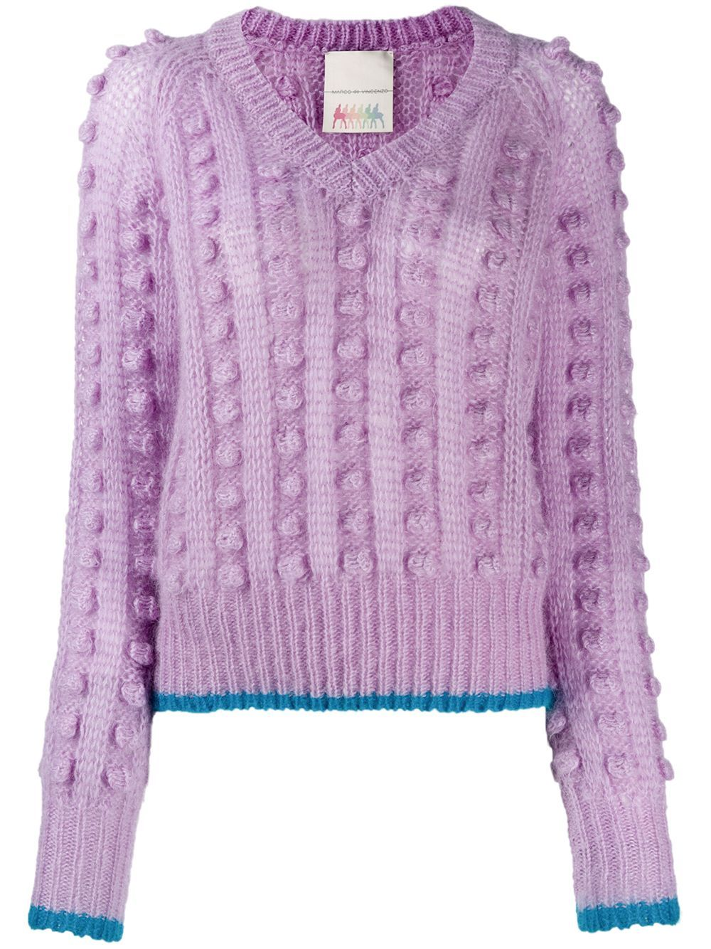 Marco De Vincenzo chunky bobble knit jumper - PURPLE