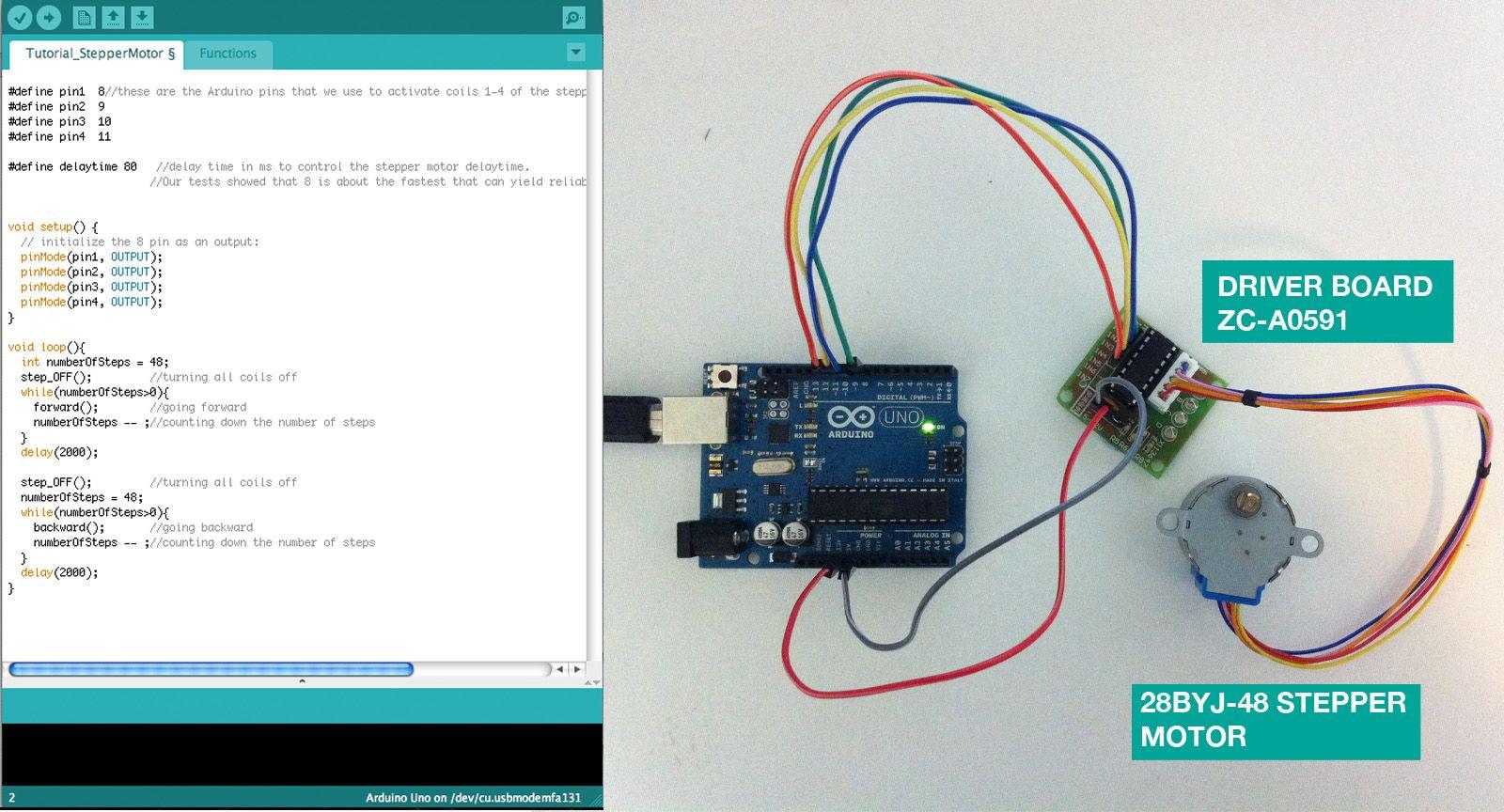 Arduino stepper motor wiring for How to program servo motor