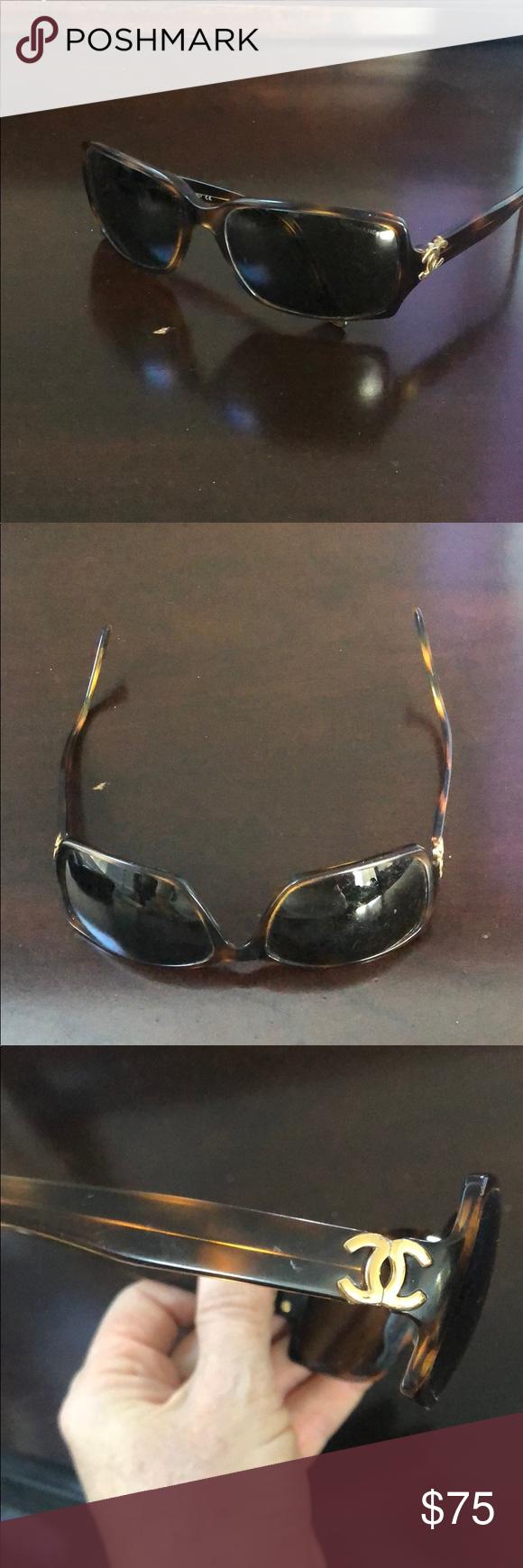 ad8423227eb7 Chanel sunglasses Authentic brown sunglasses