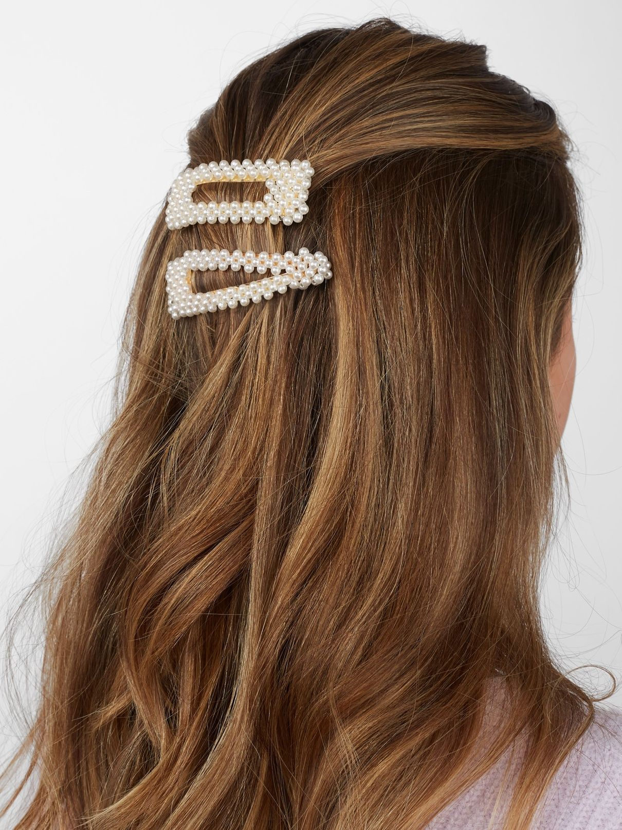 Rectangle Women Barrettes Waterdrop Shape Hairgrips Pearl Hairpins Hair Clips