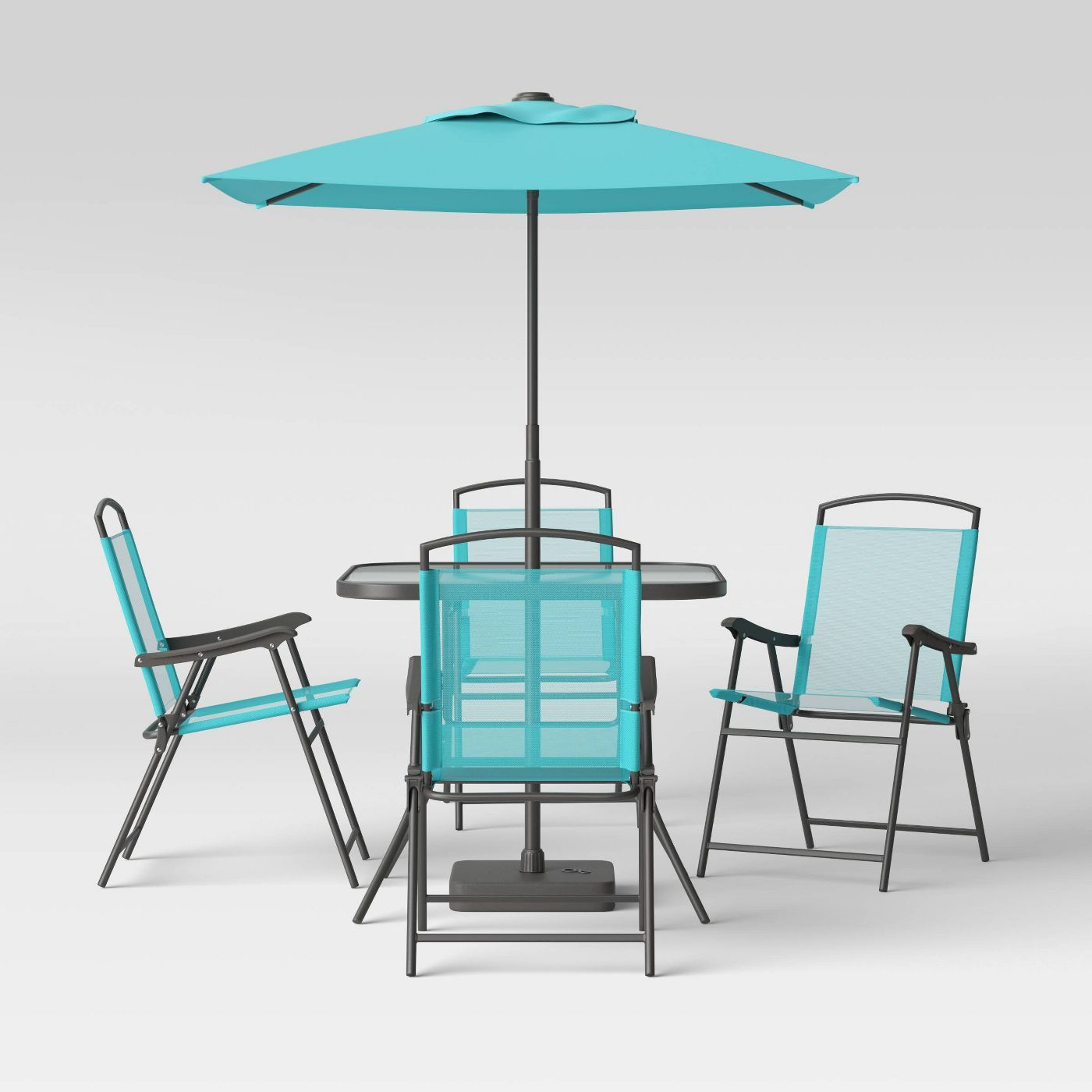 7pc metal folding patio dining set
