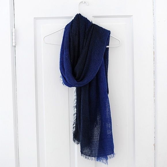 Ombré Mossimo Woven Scarf This is a, dark blue to royal blue, ombré, Mossimo scarf, woven with larger holes.  Great condition!  Frayed ends. Mossimo Supply Co Accessories Scarves & Wraps