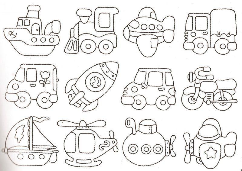 Hojas para colorear | Cojines para niños | Pinterest | Transporte ...