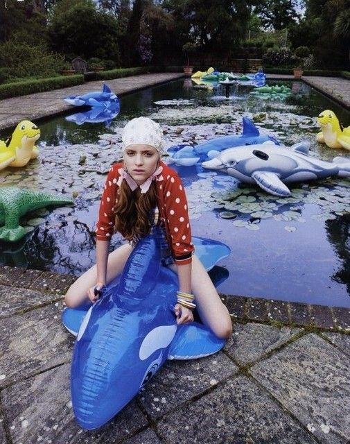 Inflatable Swimming Pool Photoshoot