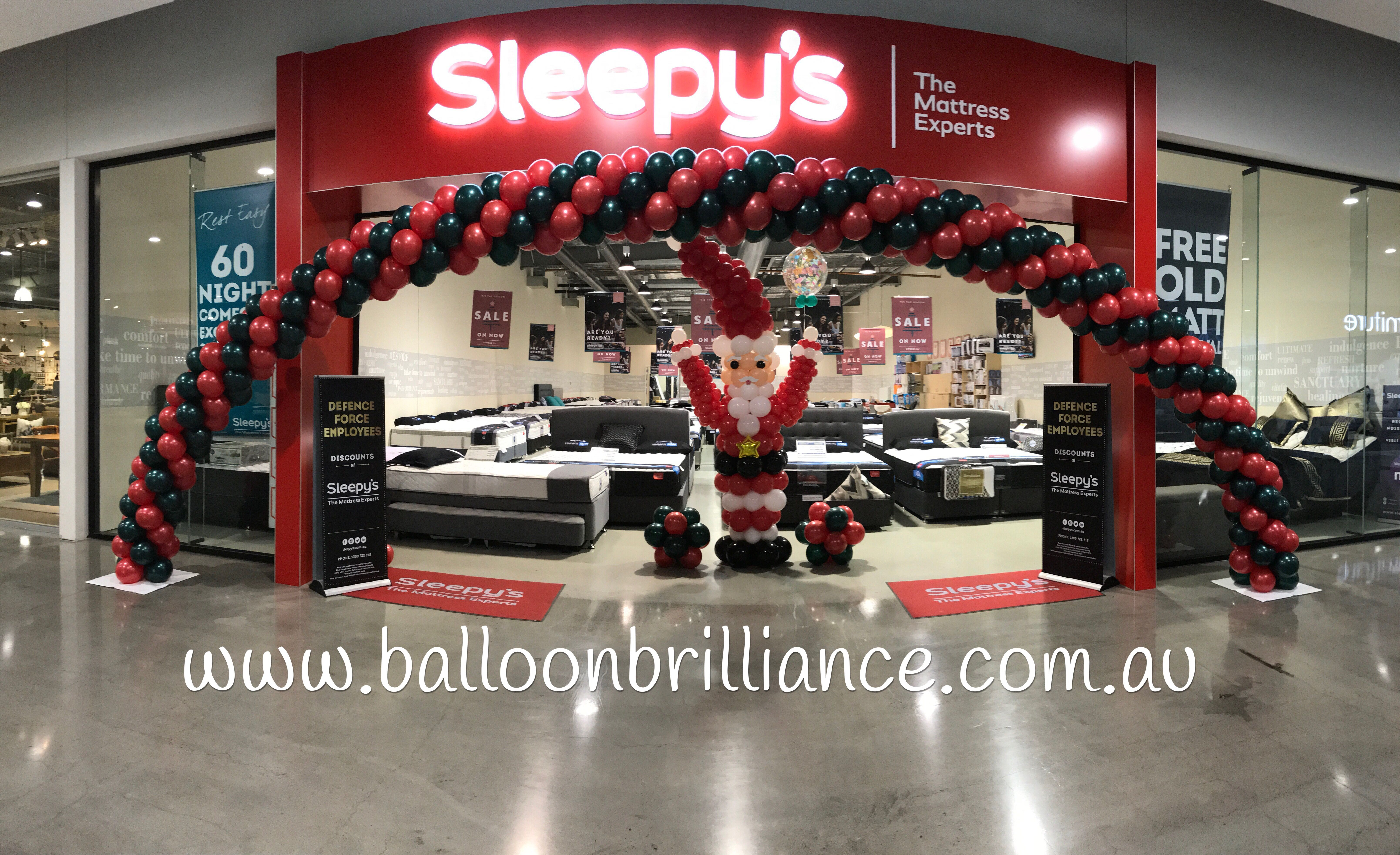 """""""It's Christmas Time At Sleepys, Canberra Outlet Centre"""""""