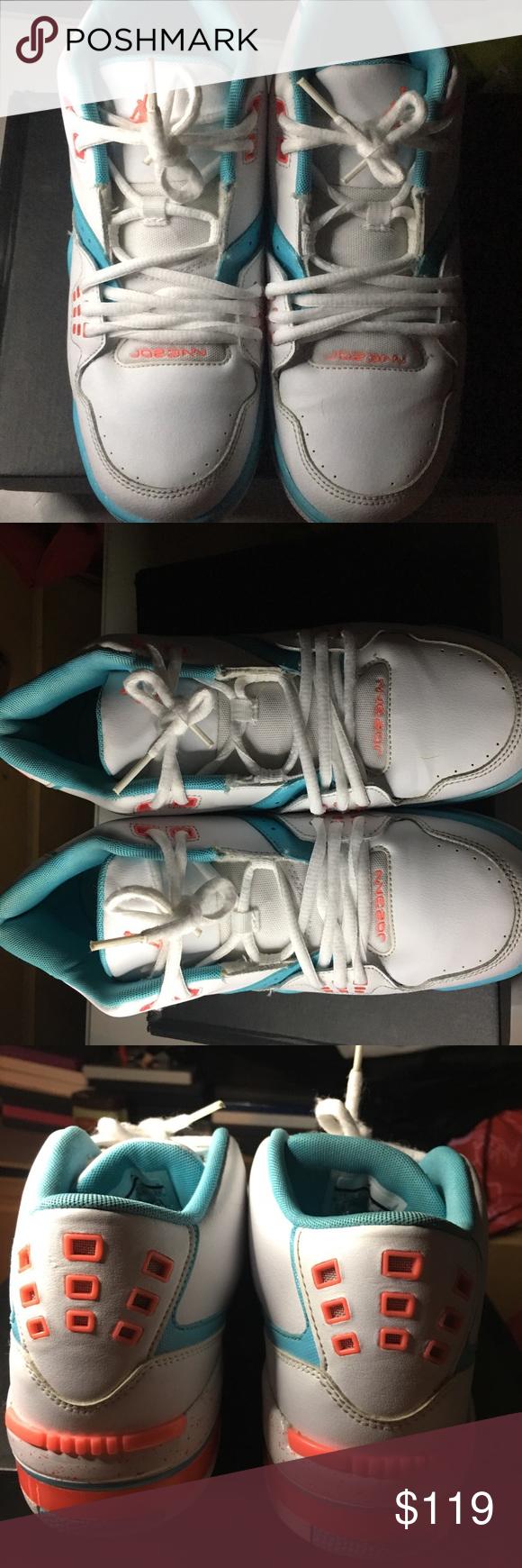 b6abdc4aaa2512 Jordan Flight 23 GG WHITE  HOT LAVA-TIDE POOL BLUE. Worn only 2 times Jordan  Shoes Sneakers
