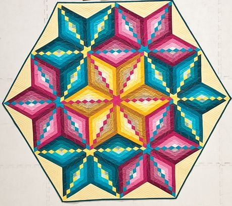 Diamond Trail Design And Made By Barbara H Cline In My Book Diamond Chain Quilts