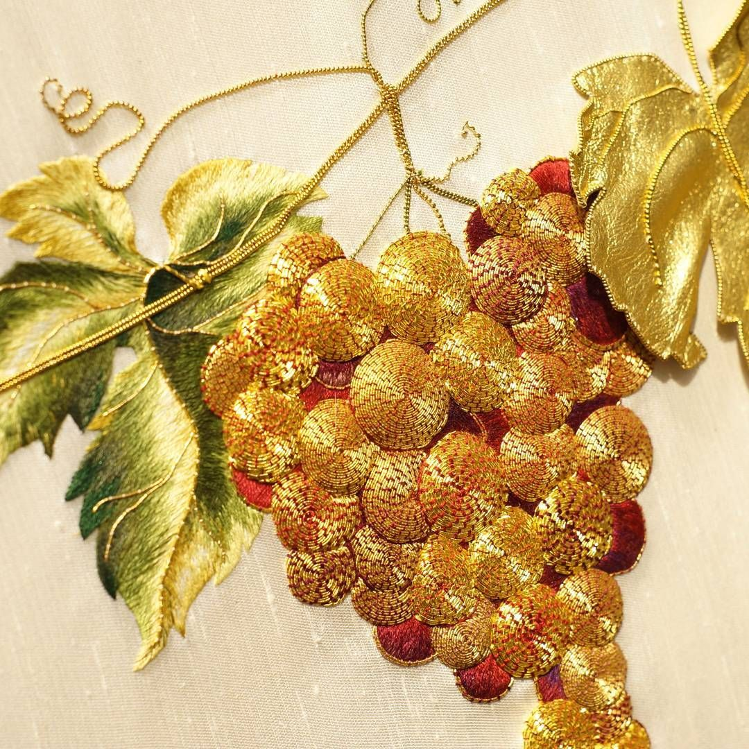 Uvas Bordado Gold Work Embroidery Hand Embroidery Designs Embroidery Machine Reviews