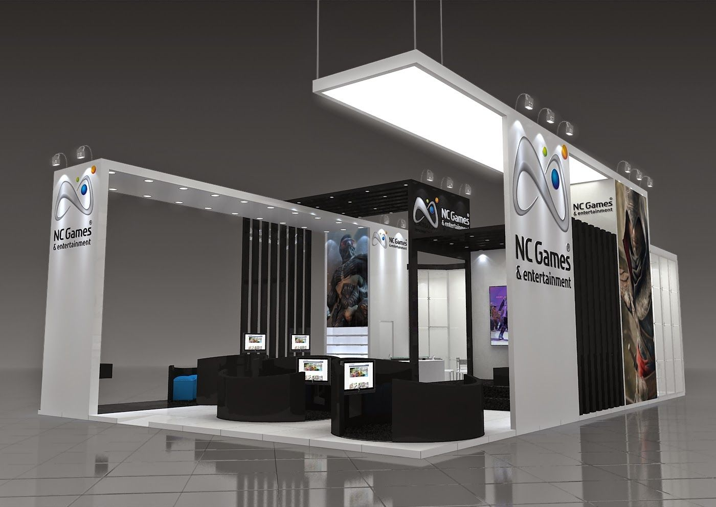 Virtual Exhibition Stand : Exclusive design trabalhos com maquete eletrônica
