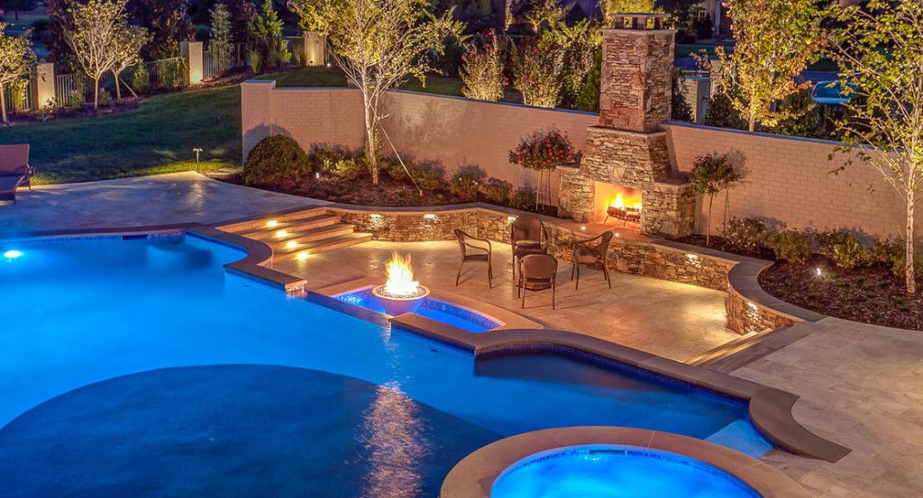 Swimming Pool Fire Pit