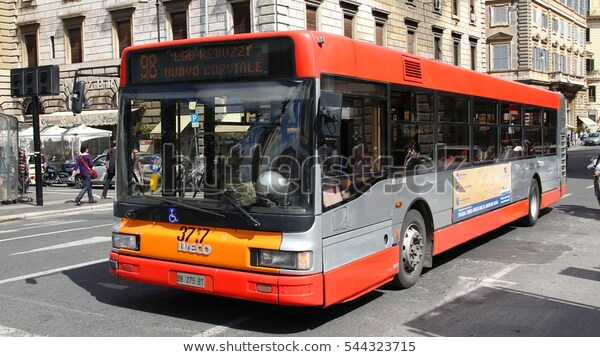 ROME, ITALY - MAY 13, 2010: Iveco bus operated by ATAC in ...