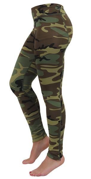 e4beb181aa9568 Womens Performance Leggings - WOODLAND CAMO Ideal for working out or just  lounging around.