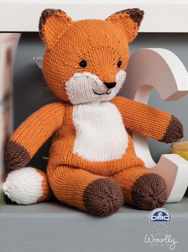 Woolly Fox Knitting Kit Knitted Toys Dolls Animals Pinterest