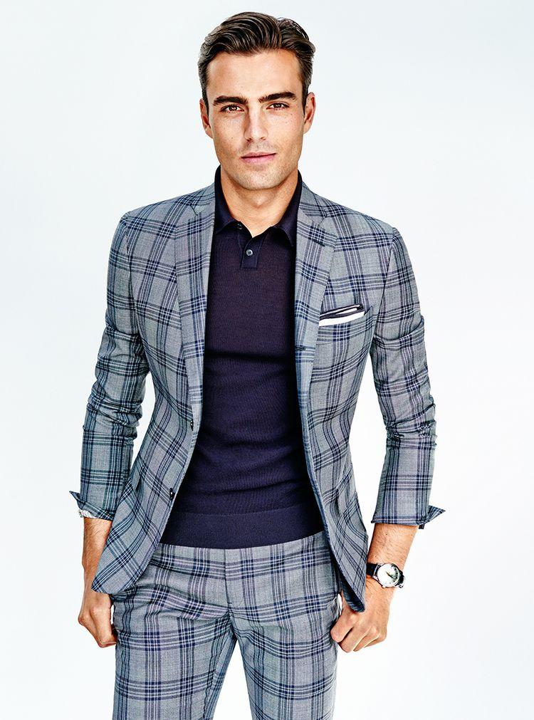 Stripes or Plaids Blue Summer Suit Naples, Florida