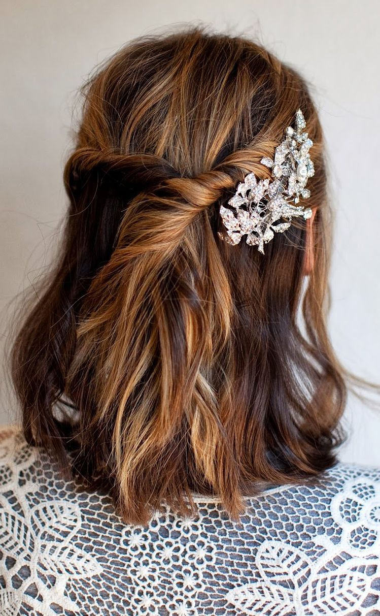 Simple twist for short hair daina wedding pinterest bobs