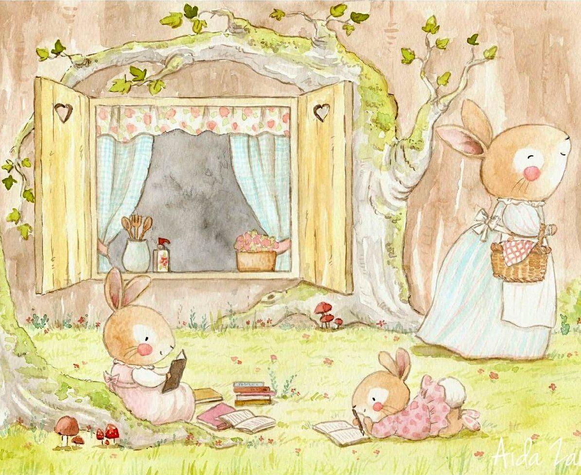Acquerelli Bambini ~ Daniela aida zamora è una giovane illustratrice per bambini che