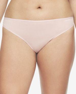 9a07703d6 Calvin Klein Plus Size Form Stretch Thong QD3709