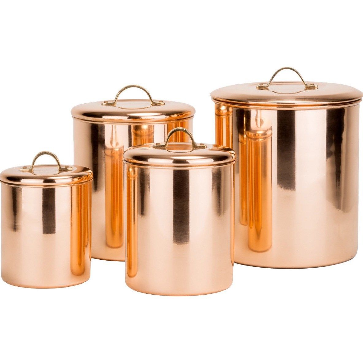 Kitchen Canister Set Storage Coffee Tea Sugar Stainless Steel Copper  Tramontina Gourmet Pc Stainless Steel Kitchen