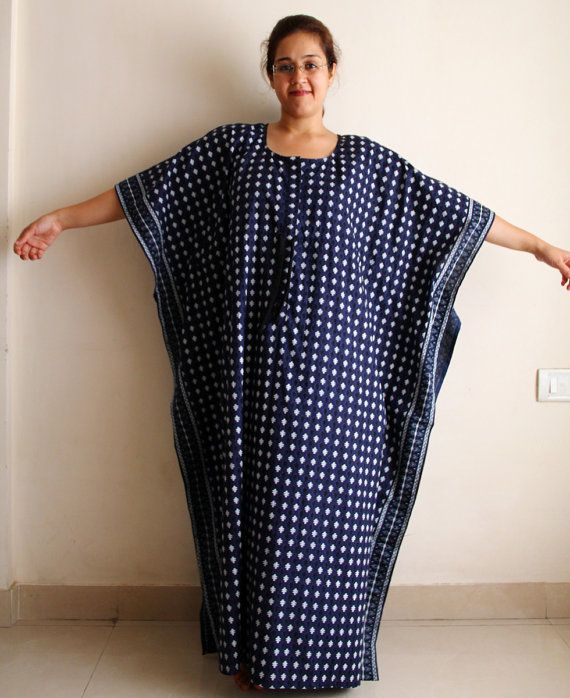 Long Nursing Night gown Indian caftan Maternity by ADifferentWeave ...